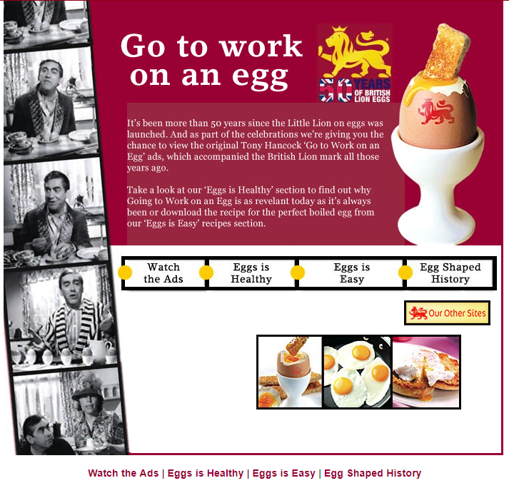 Go to work on an egg homepage