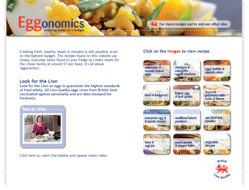 Eggonomics website