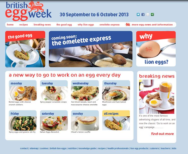 Egg Week 2013 website
