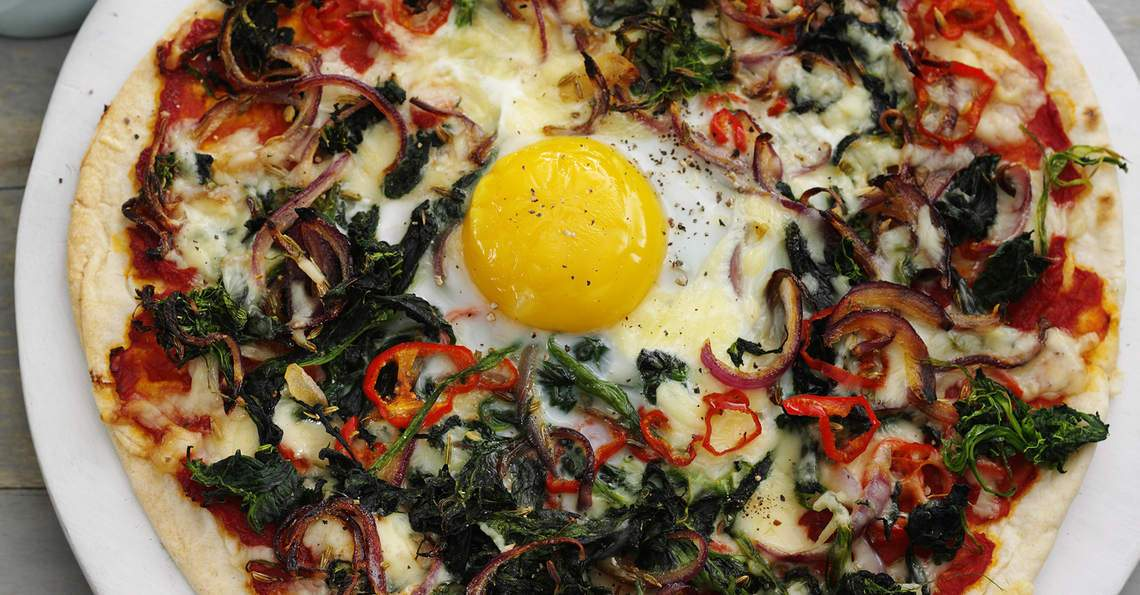 Easy egg pizza