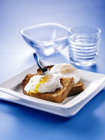 Poached egg and toast