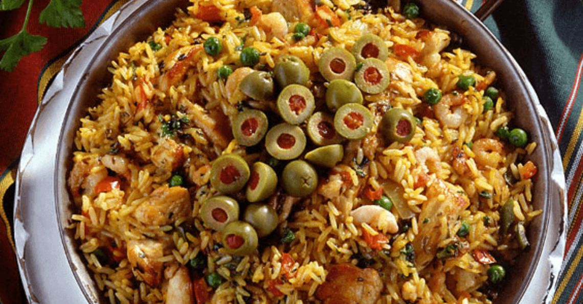 Baked paella