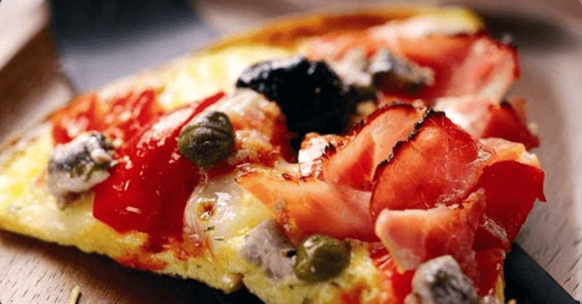Capricciosa pizza omelette