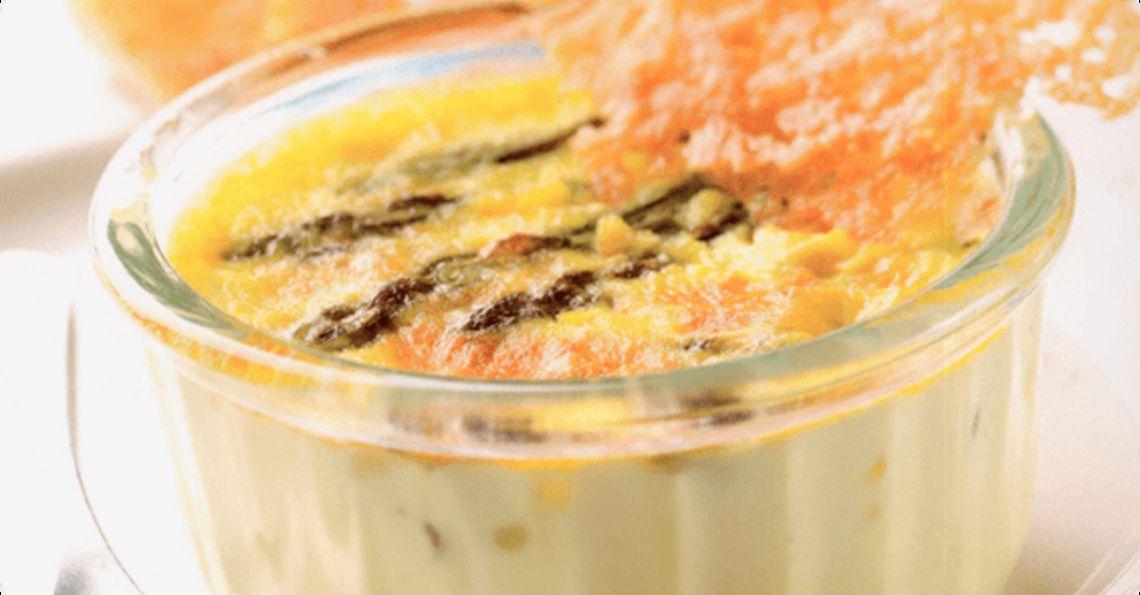 Savoury crème brûlée
