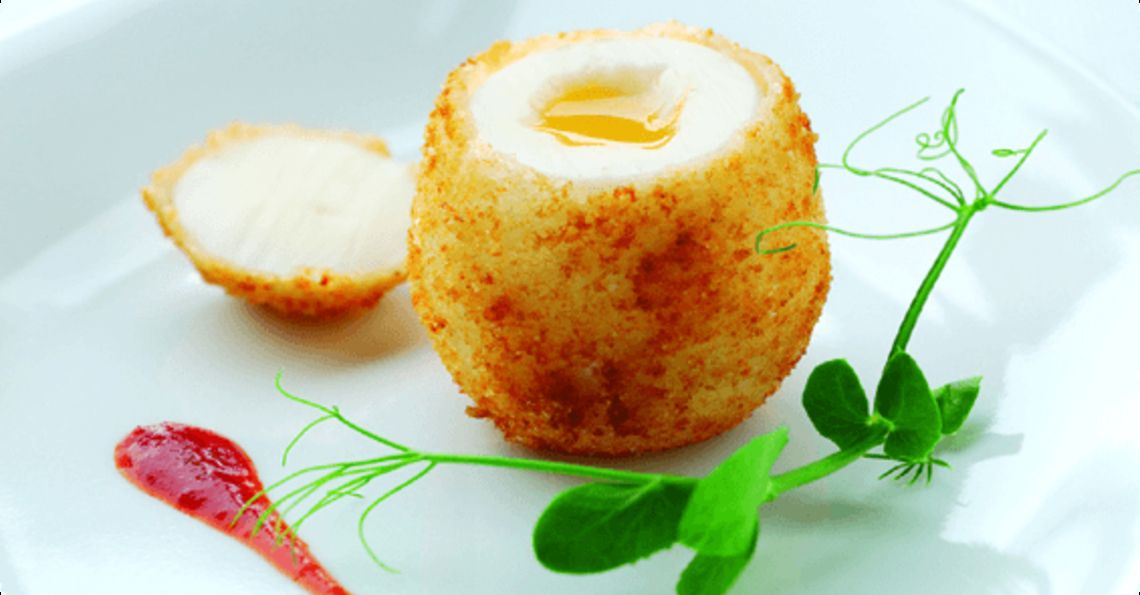 Egg with Parmesan shell