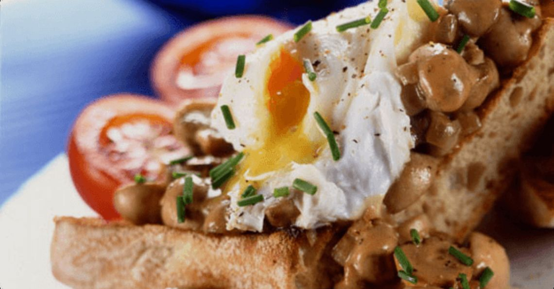 Garlic & mushroom bruschetta