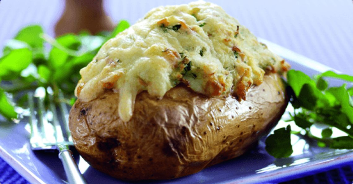 Souffléed baked potatoes