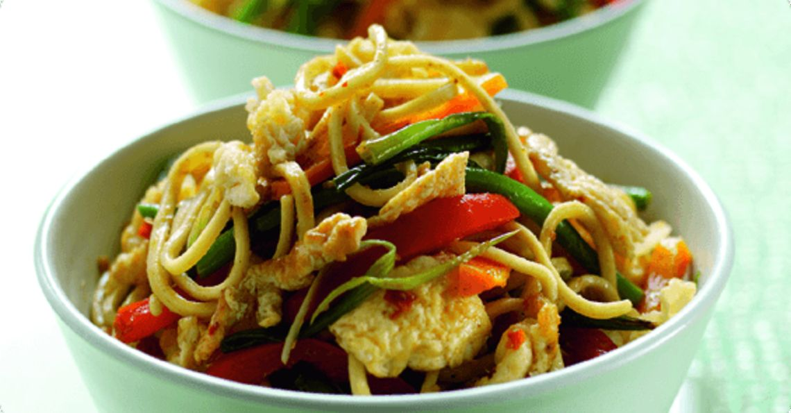 Stir fried thai noodles