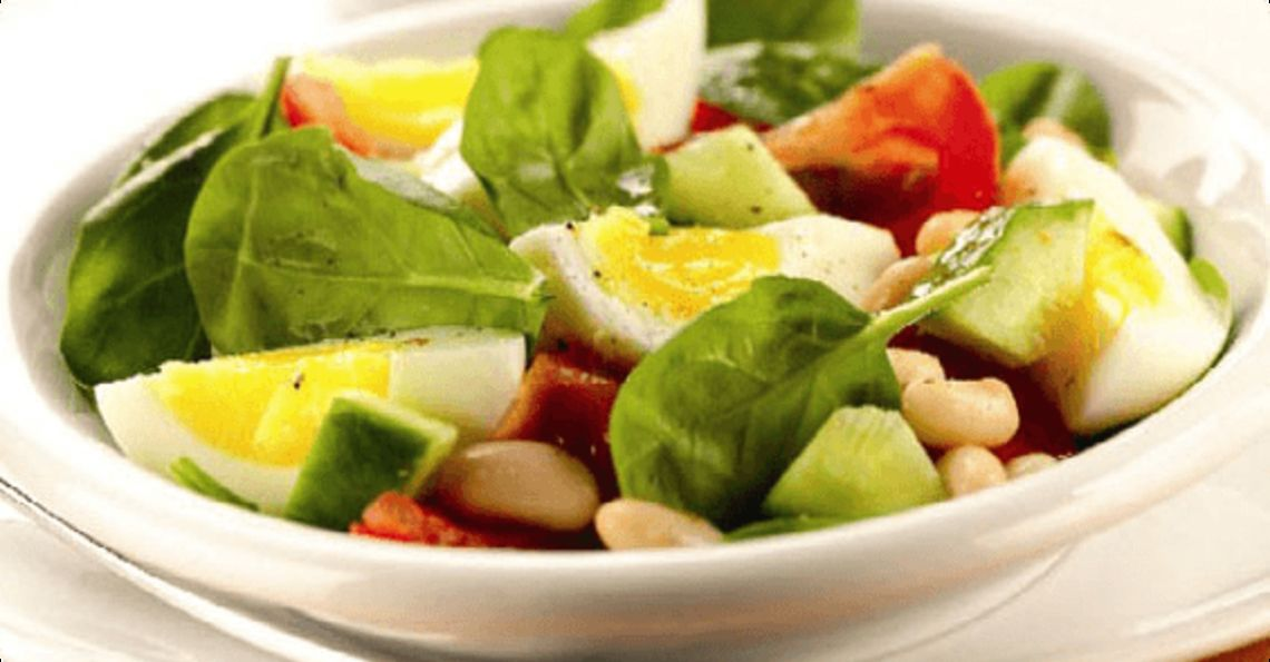 White bean and egg salad