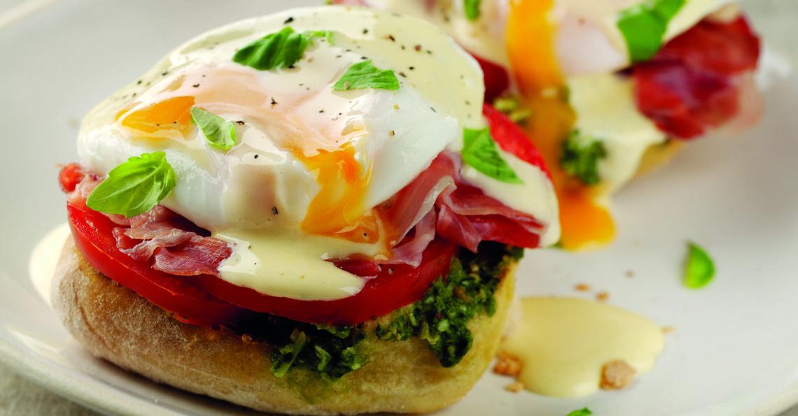 Italian Breakfast Eggs Benedict Recipe | Egg Recipes
