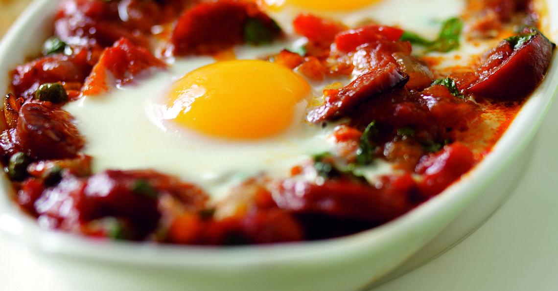 Spanish baked eggs