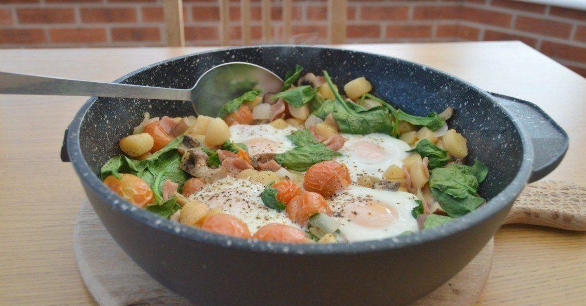 One pan healthy breakfast