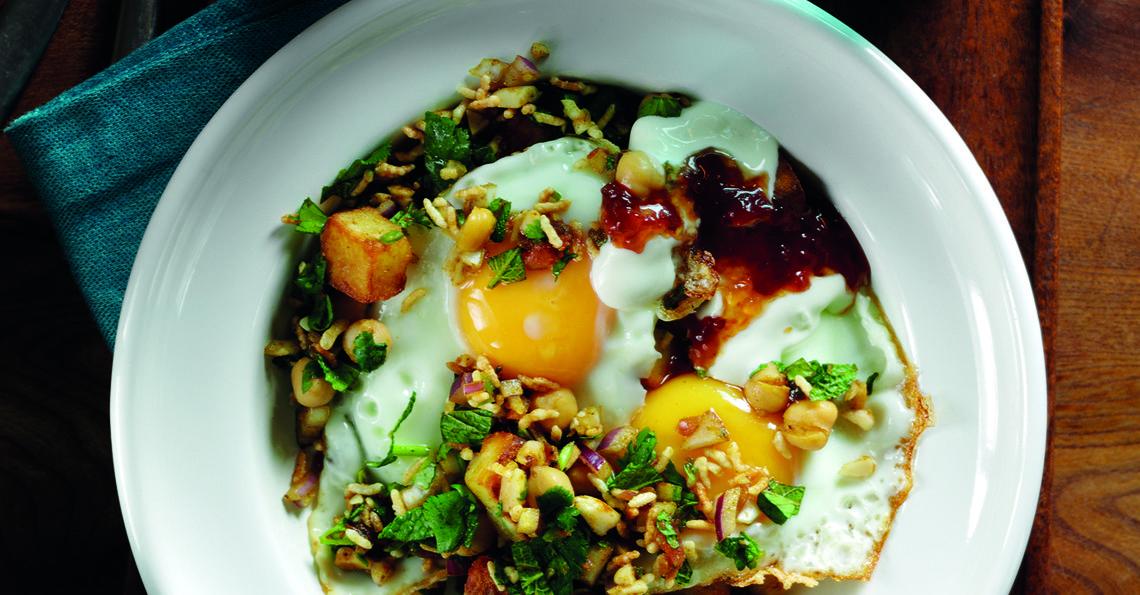 Chaat masala fried eggs