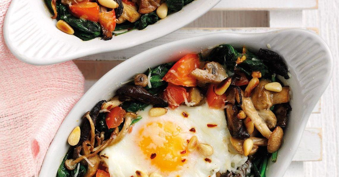 Veggie baked eggs