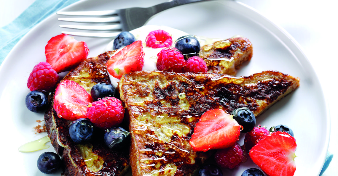 Mixed berry fairy toast