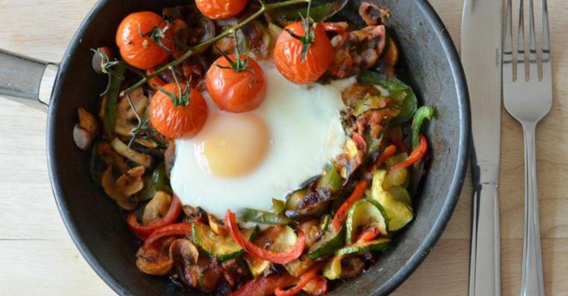 One pan egg ratatouille