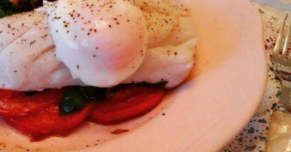 Poached egg & fish