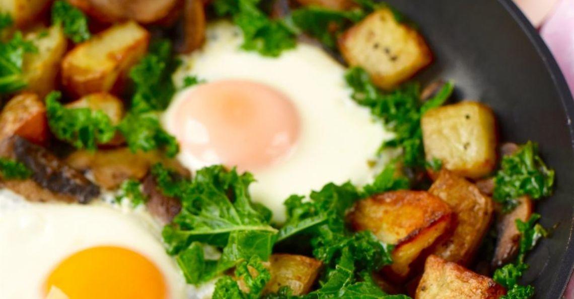 Kale and Mushroom Hash