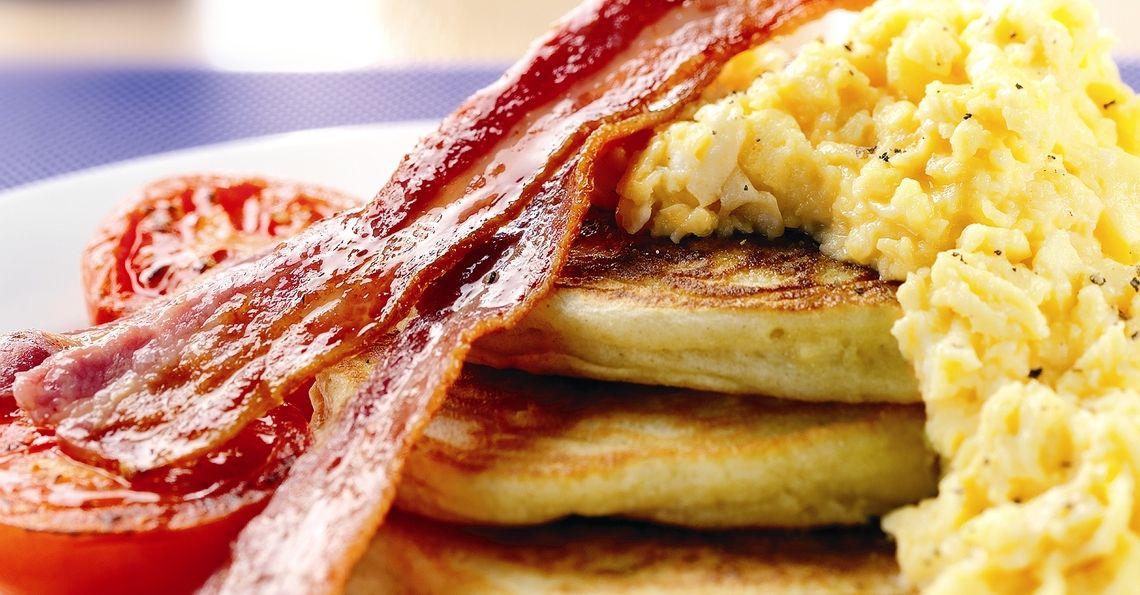 Big breakfast pancakes