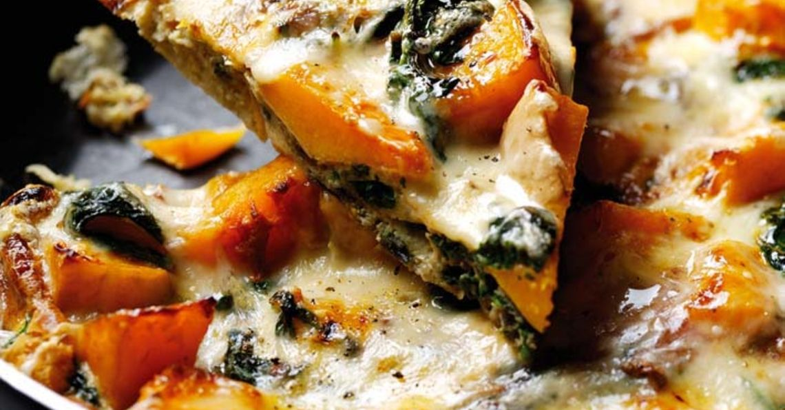 Spinach and squash frittata