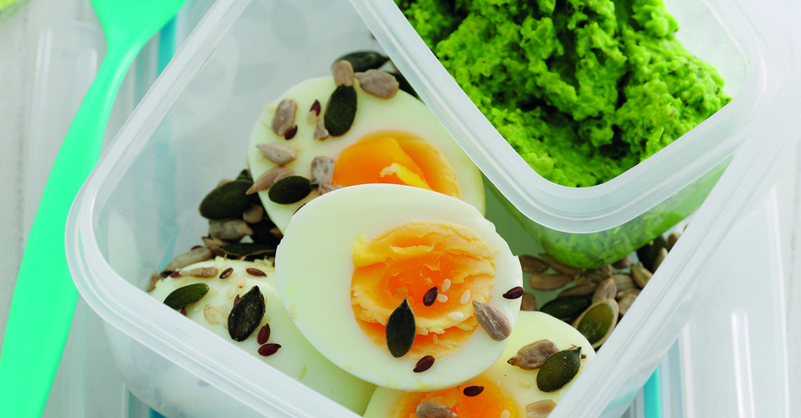 Egg and pea protein pots