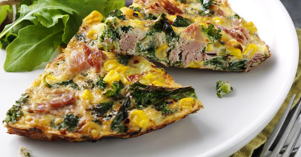 Steph Houghton's Tuna, Sweetcorn and Kale Frittata