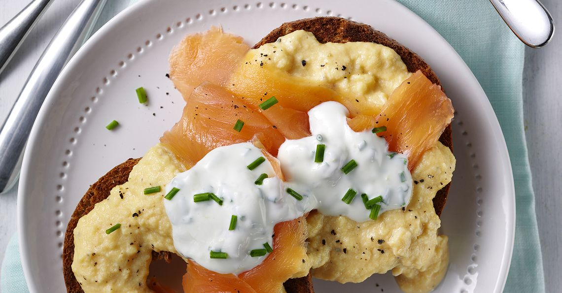 Steph Houghton's Creamy Scrambled Eggs with Smoked Salmon