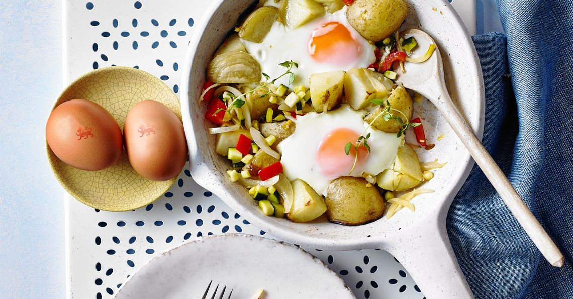 one-pan egg and veg