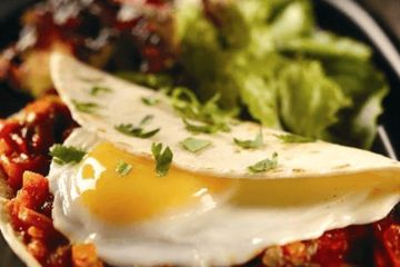 Mexican style fried eggs