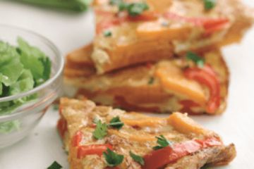Sweet potato and pepper Spanish omelette