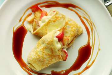 Toffee Apple Crêpes