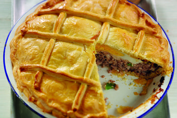 Sausage and egg pie