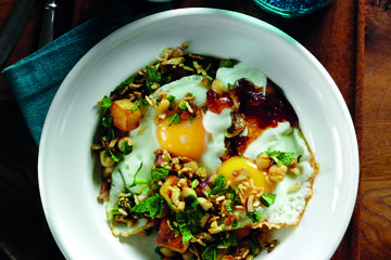 Chaat masala fried eggs