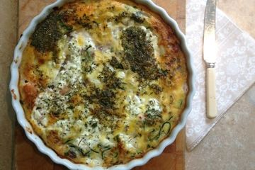 Courgette and red onion 'no pastry' quiche