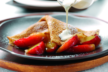 Apple and cider pancakes
