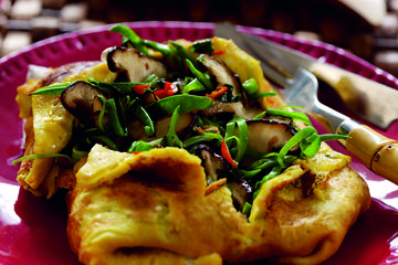 Chinese vegetable omelette