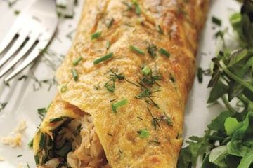 Mark Sargeant's fresh crab omelette