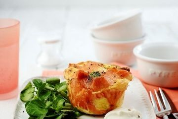 Smoked salmon egg pots
