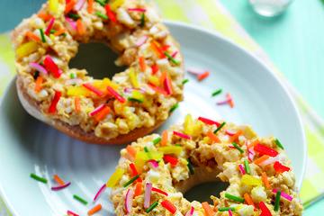 Egg bagel doughnut