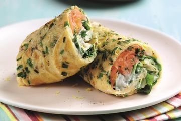 Salmon and Egg Breakfast Wrap