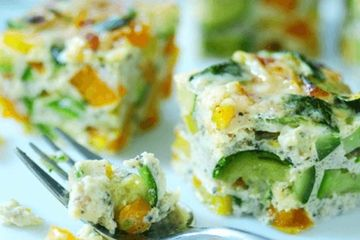 Pepper and courgette frittata
