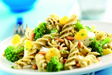 Egg and broccoli pasta