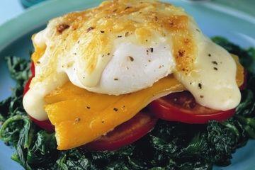 Haddock egg Florentine