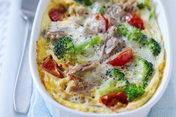 Micro recipe - tuna omelette