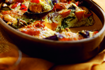 Sweet potato and pepper bake