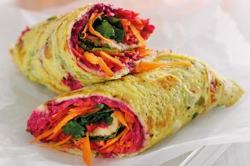 Rainbow egg wrap