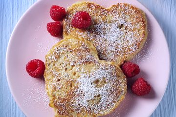 Raspberry Eggy Bread