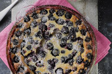 Steph Houghton's Blueberry and Lime Clafoutis