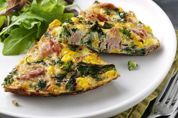 Steph Houghton's Tuna, Sweetcorn and Kale Frittata