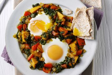 Steph Houghton's Sweet Potato Saag Aloo